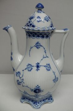 Royal Copenhagen BLUE FLUTED FULL LACE Coffee Pot