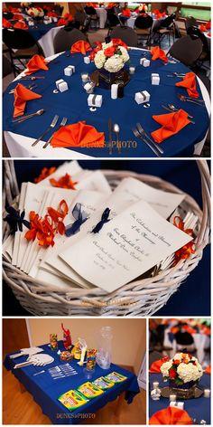 the blue & orange colors