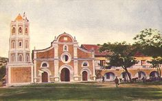 Barasoain Church and Convent (Malolos, Bulacan), 1899 Philippines Destinations, Philippine Architecture, Colorized Photos, Back In Time, Old Buildings, Colorful Pictures, Historical Photos, Mansions, History