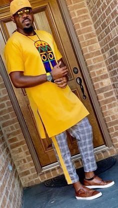 Call, SMS or WhatsApp if you want this style, needs a skilled tailor to hire or you want to expand more on your fashion business. African Wear Styles For Men, African Dresses Men, African Attire For Men, African Clothing For Men, African Shirts, African Women, Nigerian Men Fashion, Indian Men Fashion, African Print Fashion