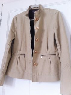 Zara camel beige zip picket jacket worn at Cheltenham, Kate's is a bit darker