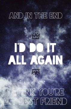 Probably just going to listen to this song a couple hundred times more. The Kids Aren't Alright by Fall Out Boy