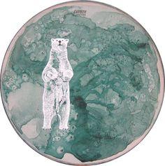 Handpainted drum skins by Aimée van Drimmelen