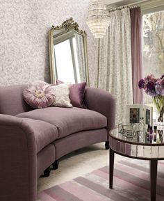 Find sophisticated detail in every Laura Ashley collection - home furnishings, children's room decor, and women, girls & men's fashion. Diy Design, Interior Design, My Living Room, Living Room Decor, Laura Ashley Home, Purple Interior, Purple Home, Childrens Room Decor, Living Room Inspiration