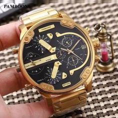 Top Skeleton Mechanical Watch Automatic Men Classic diesel style stainless steel Wristwatches Reloj Hombre