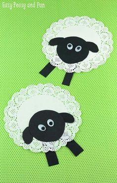 Doily Lamb Easter Craft - acraftylife.com