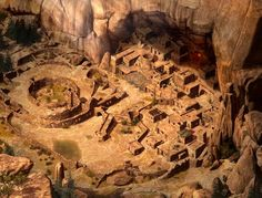 Except much bigger, like an actual city but built in a dry mountain area like this: