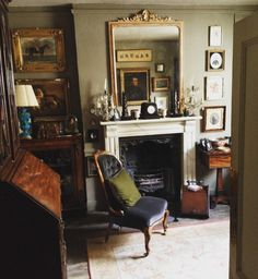 English antiques in sitting room