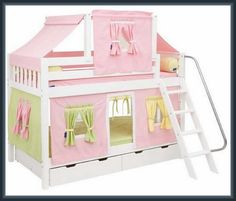 Bed Tent, Loft, Canopy Design, Toy Chest, Storage Chest, Cabinet, Interior Design, Furniture, Home Decor