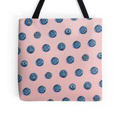 BLUE BERRY by adventura #totebag #totes #tote #beachbag #polkadot #polkadots #dots #polkadotpattern #pattern #blueberry #fruit #summeraccessory #trend #trending #trendy #fruitprint #pink #girly #summer2016