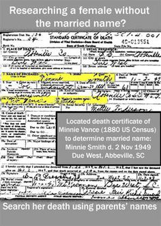 """3rd article in a series:  Have you ever found a female family member on the 1880 Census and wanted to trace them forward to learn more? There is a challenge between 1880 and 1900 because the 1890 US Census was almost completely destroyed leaving a 20 year gap between 1880 and the next complete census in 1900; the challenge is greater if you do not know the married name."""