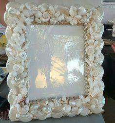 Seashell Picture frame.8x10 by BlueIslandshell on Etsy