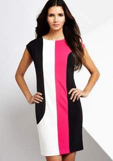 Anne Klein Colorblock shift dress