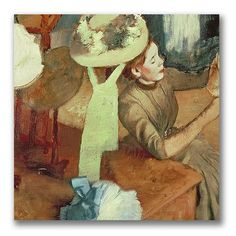 "Trademark Art ""The Millinery Shop"" by Edgar Degas Painting Print on Canvas Size:"