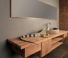 Reclaimed teak wood bathroom vanity, by ReOrient Inc. Wakefield, QC