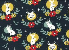 Birch Organic Knits Tall Tales Jackalope Dusk with Floral Frame