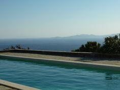 view from a pool , tinosvilla, tinos,greece Tinos Greece, Beach, Water, Outdoor Decor, Home Decor, Gripe Water, Decoration Home, The Beach, Room Decor