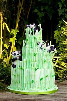 Tarta Bambu y Pandas