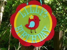 Chickadee Bird Birthday Door Sign MADE TO ORDER DIY