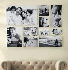 Idea para decorar con fotos familiares