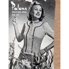1940s Vintage Knitting Patterns for Women's by BessieAndMaive