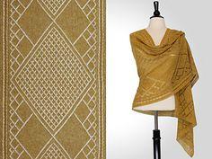 """Polo Rectangular Shawl,"" by Steve Rousseau, knit in Shibui Pebble."
