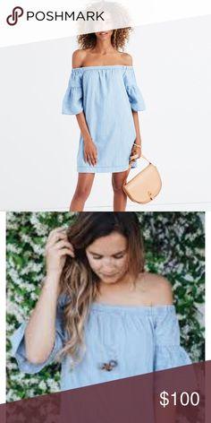 4942c7c29017 Madewell Azalea off-the-shoulder dress LOVE LOVE LOVE this denim off-the
