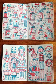 Sketchbook (pencil) || Linzie Hunter || http://www.linziehunter.co.uk/
