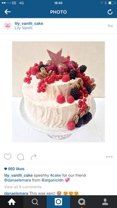 speshhy for our friend from 💞 Bakery, Lily, Fruit, Instagram Posts, Desserts, Entertaining, Food, Ideas, Tailgate Desserts