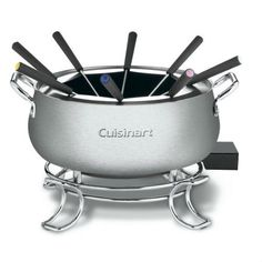 Take your love a chocolate or cheese a step further with Cuisinart's Electric Fondue. #chocolate #fondue #valentines