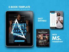 Fitness Bold Men eBook PowerPoint Template - Lady Boss Biz Boutique - New Ideas Keynote Template, Brochure Template, Boutique Fitness, Fitness Inspiration, Workout Names, Yoga Training, Boss T Shirt, Journal Template, Microsoft Powerpoint