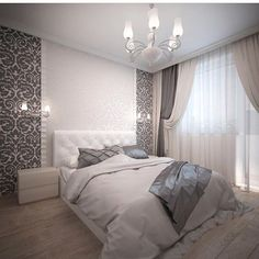 Grey & white - Architecture and Home Decor - Bedroom - Bathroom - Kitchen And Living Room Interior Design Decorating Ideas - Wood Interior Design, Home Interior, Home Decor Bedroom, Interior Design Living Room, Living Room Decor, Wood Bedroom, Master Suite Bathroom, Master Bedroom Design, Trendy Bedroom