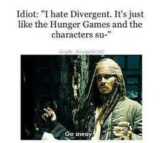 Although I adore the Hunger Games (More than Divergent tbh) I don't really see many similarities between the two series