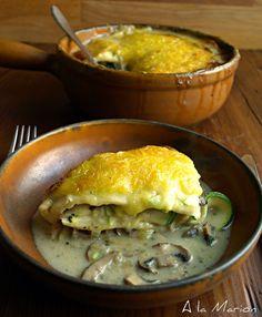 À la Marion : cremige Zucchini Lasagne  VEGAN !
