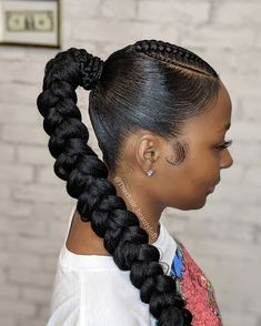 You Already Know Need these braids Contact thechair beautyloft Box Braids Hairstyles, Braided Ponytail Hairstyles, Ponytail Styles, Girl Hairstyles, Curly Hair Styles, Natural Hair Styles, Braid Ponytail, Easy Hairstyle, Protective Hairstyles