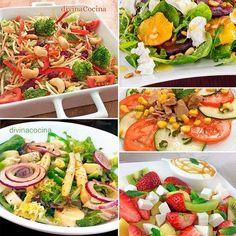 Aquí tienes una selección de ensaladas bajas en calorías y completas con la que puedes organizar la cena en pocos minutos o acompañar a algún plato fuerte.