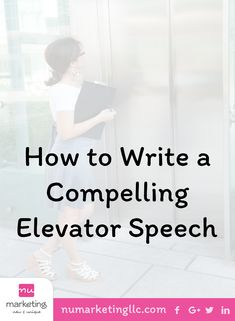 An elevator speech should be something engaging yet mysterious. It has to tell a little about your company but leaving the person asking for more. Seo Marketing, Internet Marketing, Social Media Marketing, Business Ideas, Business Women, Self Promotion, Self Discovery, Business Branding, Professional Development