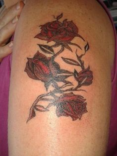 Roses with Thorns #tattoo