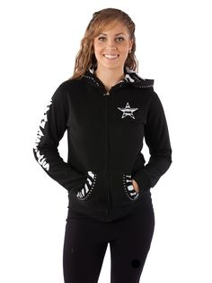 Rhinestone gymnastics hoodie- Great gift idea!