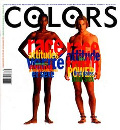 Colors magazine is a quarterly publication intended for young adults world wide, it is published in 4 different languages. Kalman became the founding editor-in-chief of the magazine, which covered a specific, and often controversial, topic with each issue. His designs for the covers of the first 13 issues garnered him much attention as a designer.   From:  http://www.designishistory.com/1980/tibor-kalman/