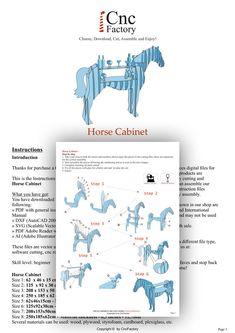 PAARD kabinet  sjabloonbestand snijden  paard opslag met