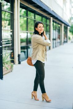 fall outfit ideas, how to wear olive colored jeans, casual fall outfits- My Style Vita @mystylevita