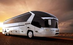 MAN - Neoplan Bus sketches & renderings on Behance Bus Camper, Rv Bus, Star Bus, Adventure Car, Luxury Bus, Future Transportation, Future Trucks, Trailers, Automobile