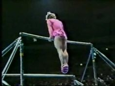 1981 Nadia Tour gymnastics Paul Hunt comedy uneven bars When you just need a good laugh! I Smile, Make You Smile, Haha Funny, Hilarious, Funny Stuff, Funny Ads, Doug Funnie, Female Gymnast, Mejor Gif