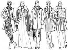 J. Crew Fall 2012 Illustration by Jessica Quirk by What I Wore, via Flickr
