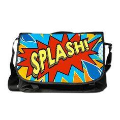 Comic Style Splash! Shower curtain Messenger Bag