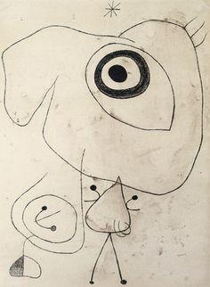 nezartdesign: Joan Miró - Personnage, oiseau, étoile (Figure, Bird, Star), 1942
