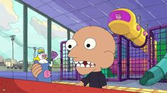 """Amid a spate of live-action comedies featuring boys as the protagonist, Cartoon Network's animated """"Clarence"""" arrives as a nifty little gem, Cartoon Movies, Cartoon Characters, Fictional Characters, Clarence Sumo, Clarence Cartoon Network, Tom And Jerry Show, Uncle Grandpa, Samurai Jack, Tv Reviews"""