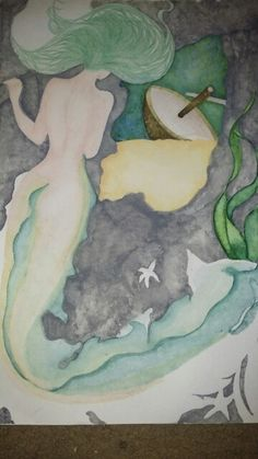 Unfinished- sunken treasure- watercolour Watercolour, Mixed Media, Drawings, Painting, Art, Pen And Wash, Sketches, Craft Art, Watercolor Painting