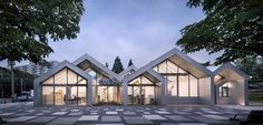 Hannae Forest of Wisdom / UnSangDong Architects, © Sergio Pirrone Roof Design, House Design, Modern Bungalow Exterior, Community Housing, Best Barns, Building Design, Interior Architecture, Minimal Architecture, Landscape Design